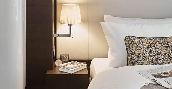 Das Deluxe Zimmer bietet besten Schlafkomfort