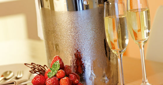 Erdbeeren und Champagner