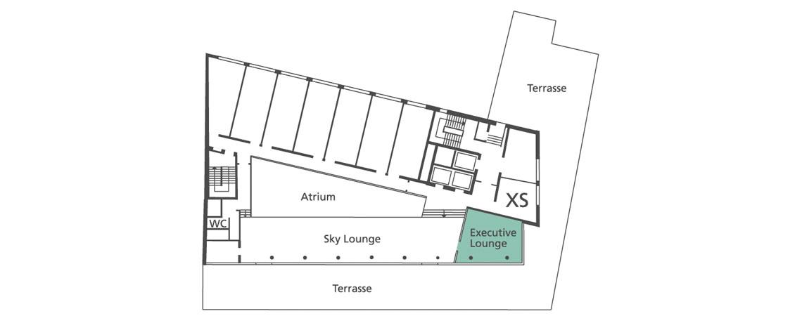 Lageplan Executive Lounge in der 8. Etage