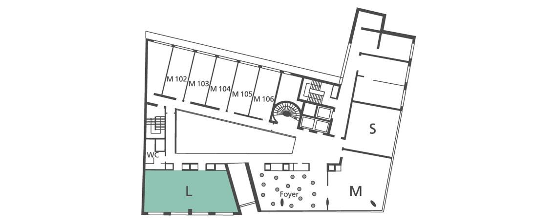 Lageplan Tagungsraum L in der 1. Etage