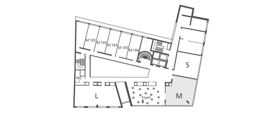 Hotel Tagungsraum M Grundriss