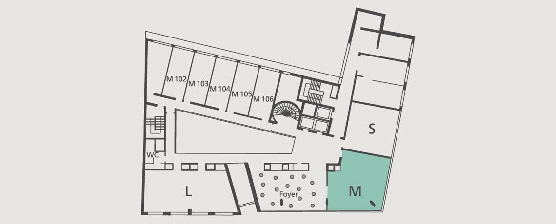 Lageplan Tagungsraum M in der 1. Etage