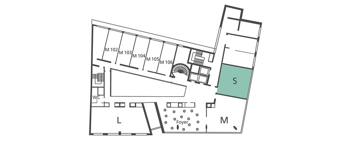 Lageplan Tagungsraum S in der 1. Etage