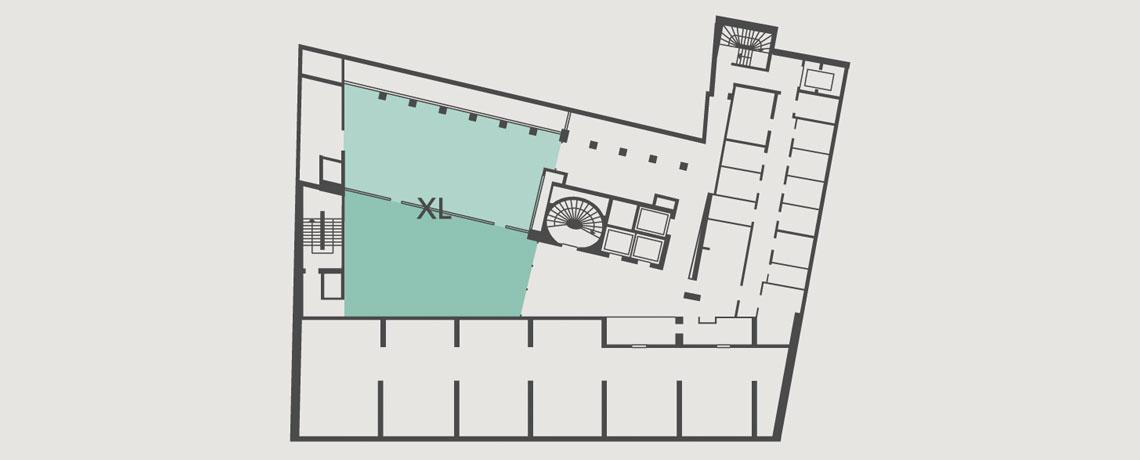 Lageplan Tagungsraum XL in der 2. Etage