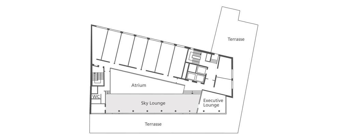 Hotel Tagung Sky Lounge Grundriss