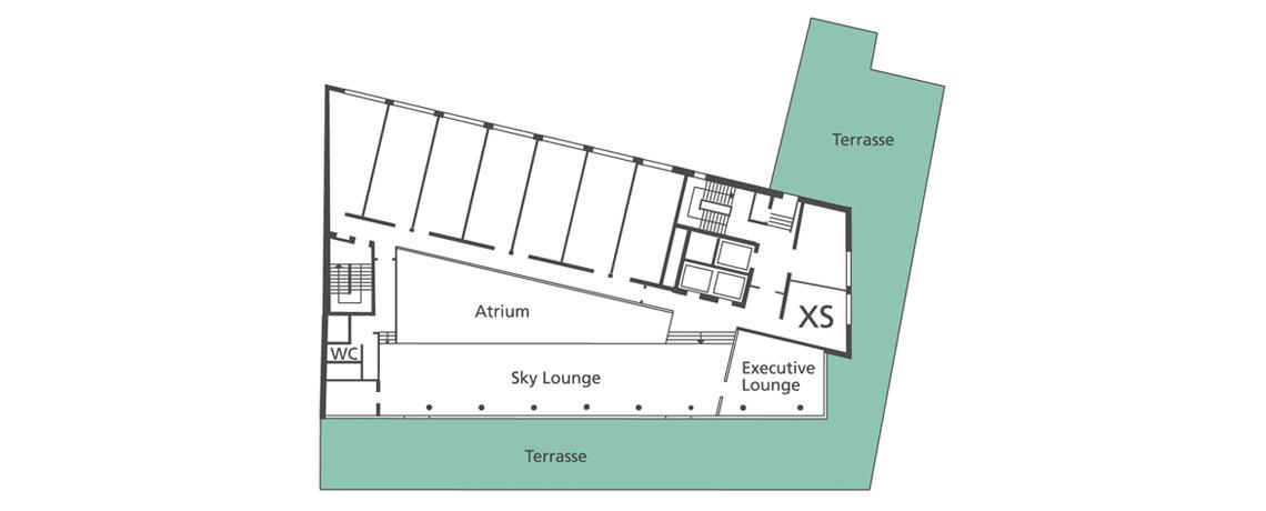 Hotel Tagung Terrasse Grundriss